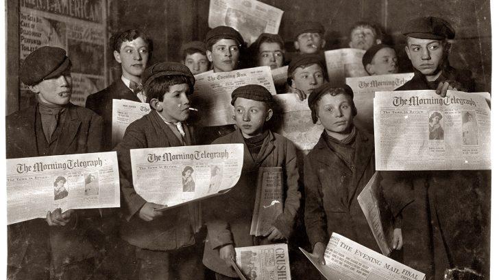 Lewis-Hine-Vendedores-de-periódicos