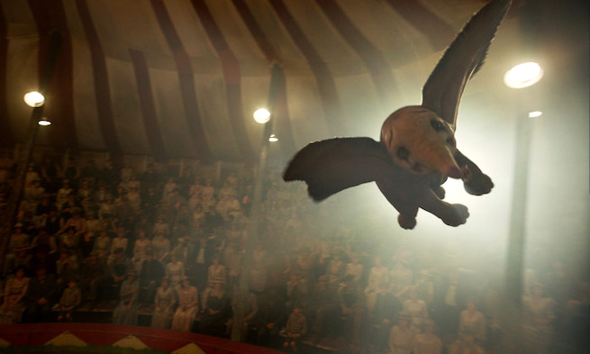 "FLYING HIGH – In Disney's new live-action adventure ""Dumbo,"" a newborn elephant with giant ears discovers he can fly, and he's destined to be a star, which may or may not be a good thing. Directed by Tim Burton, ""Dumbo"" flies into theaters on March 29, 2019."