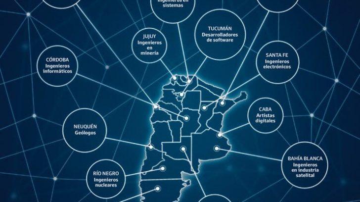 mapa profesiones