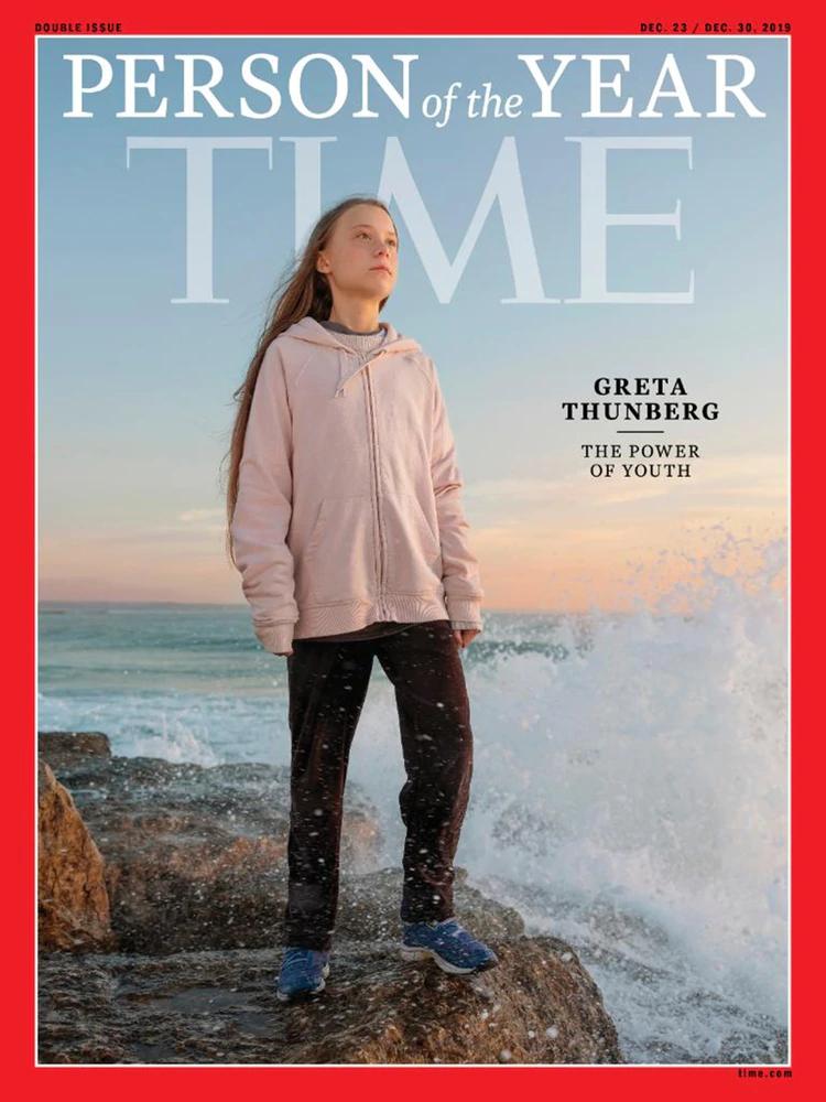 """Greta Thunberg fue elegida como la """"persona del año"""" por la revista Time"""