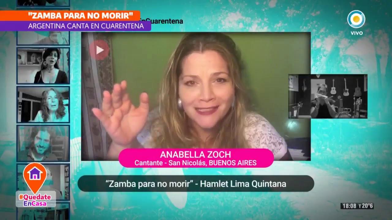 Versión colectiva de «Zamba para no morir» en cuarentena