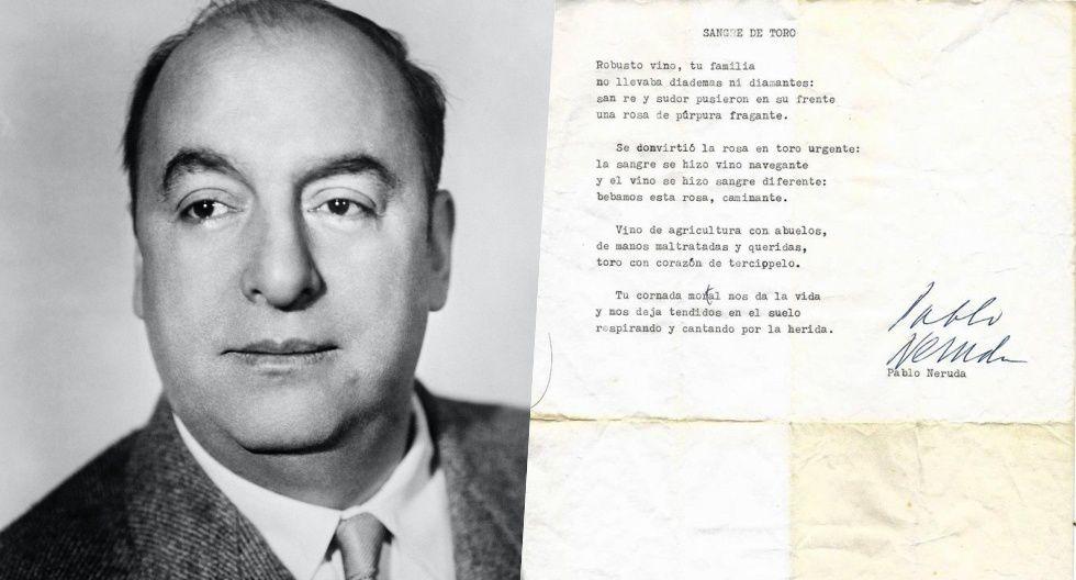 Hallaron un soneto original de Neruda en la casa de una amiga fallecida del poeta