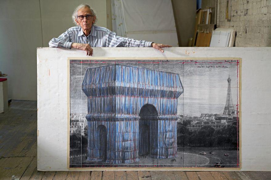 El Arco del Triunfo, envuelto: el sueño de una pareja de artistas que no llegó a verlo