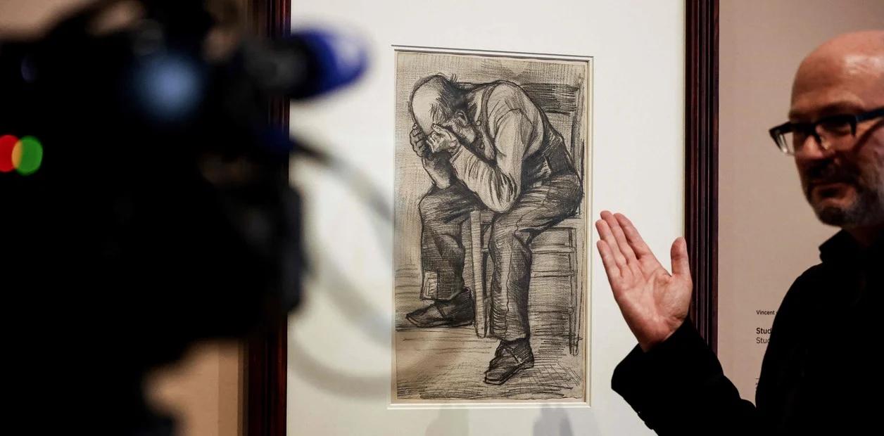 Descubrieron un nuevo dibujo de Vincent van Gogh de 1882